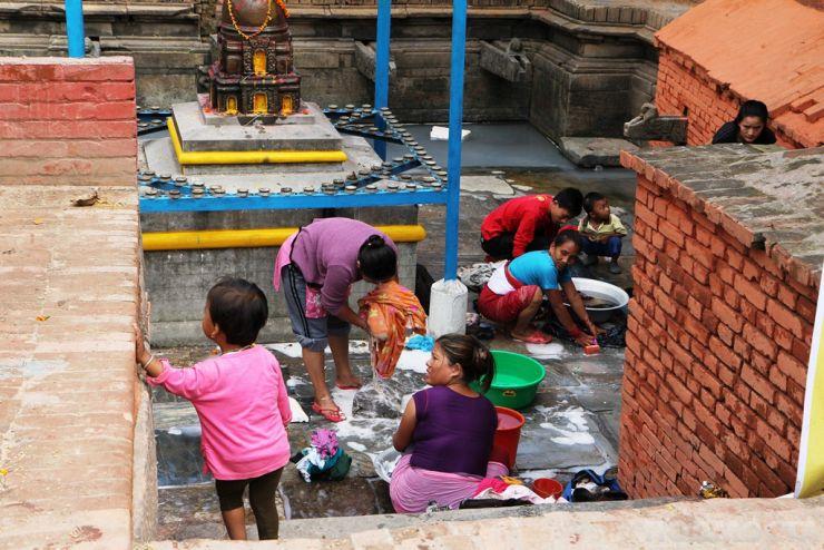 Мястото, където хората, които нямат вода по домовете идват, за да изперат дрехите си.
