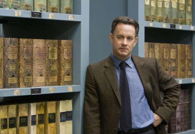 """Том Ханкс в ролята на професор Робърт Лангдън в """"Шифърът на Леонардо""""."""