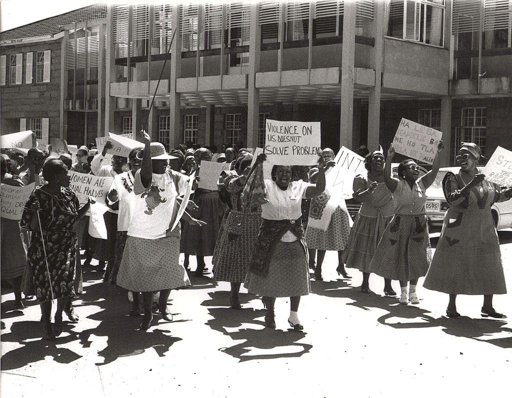 Жени на протест срещу домашното насилие в Лесото, фото: Flickr