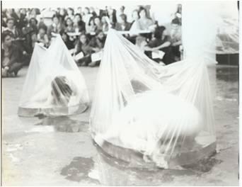 """Кадър от """"Интеграции във вода"""", 1982"""