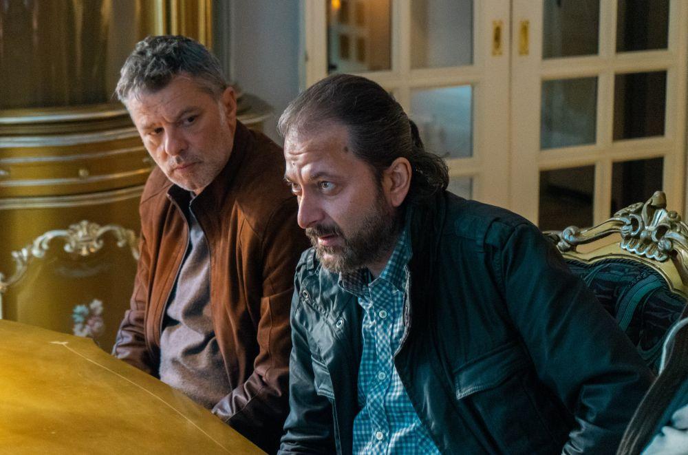 Мариан Вълев и Стефан Денолюбов по време на снимки